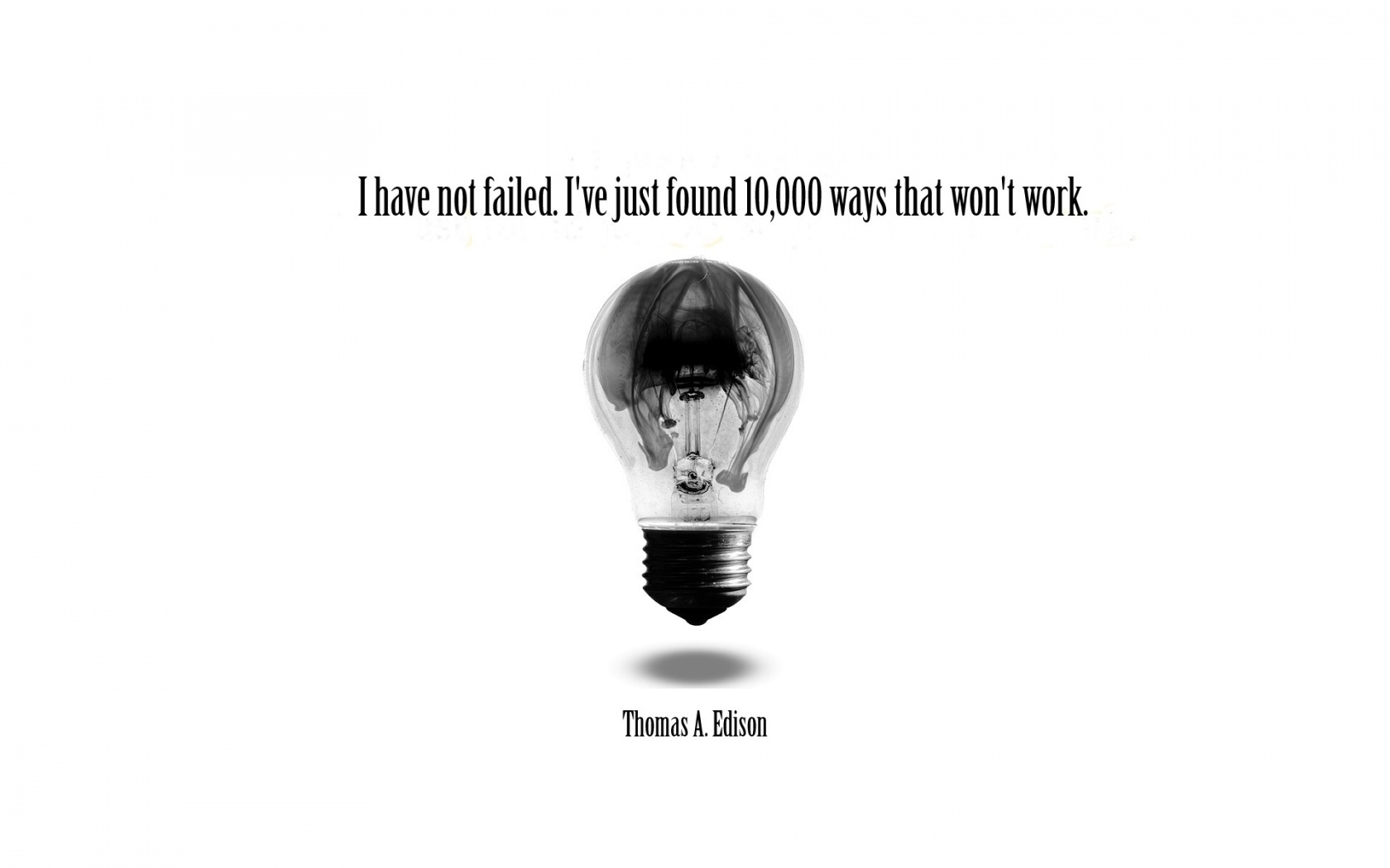 1680x1050 edison quote desktop pc and mac wallpaper