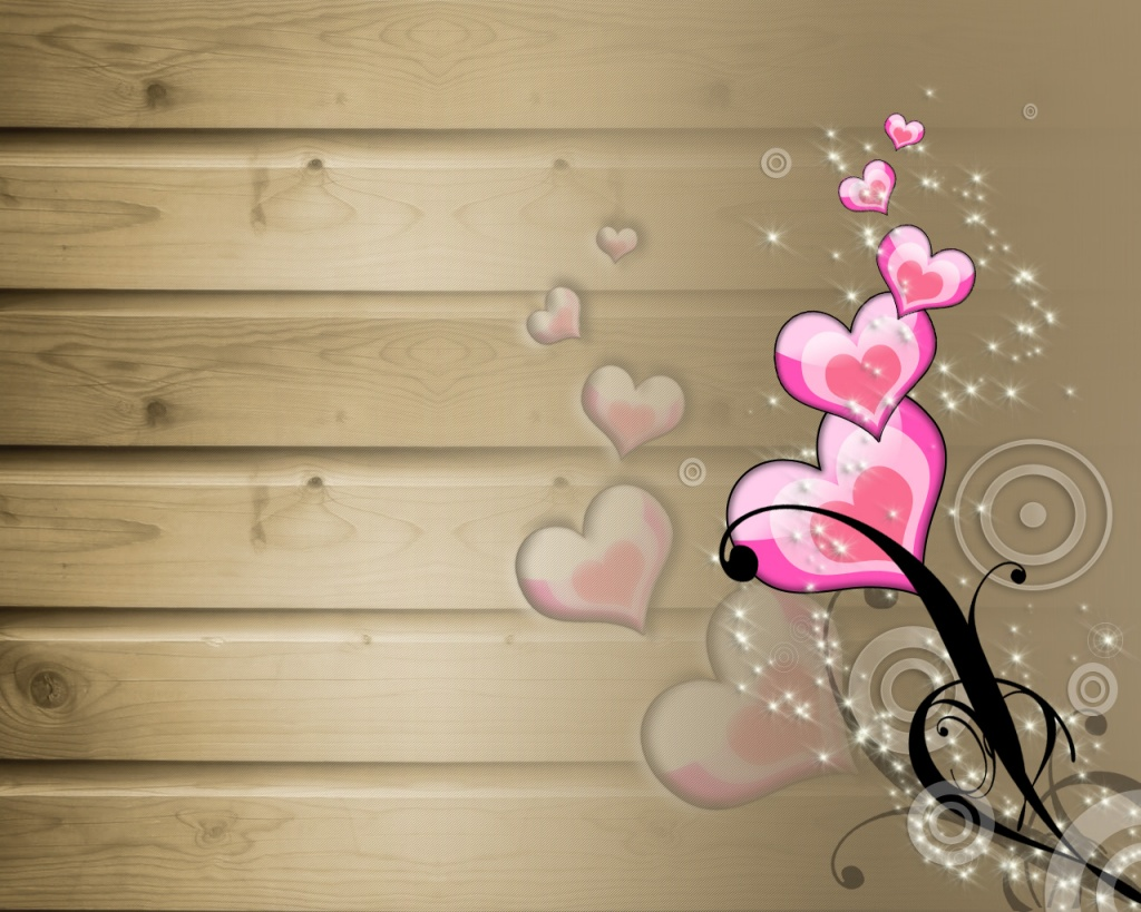 1024 Gift hearts desktop wallpapers and stock photos