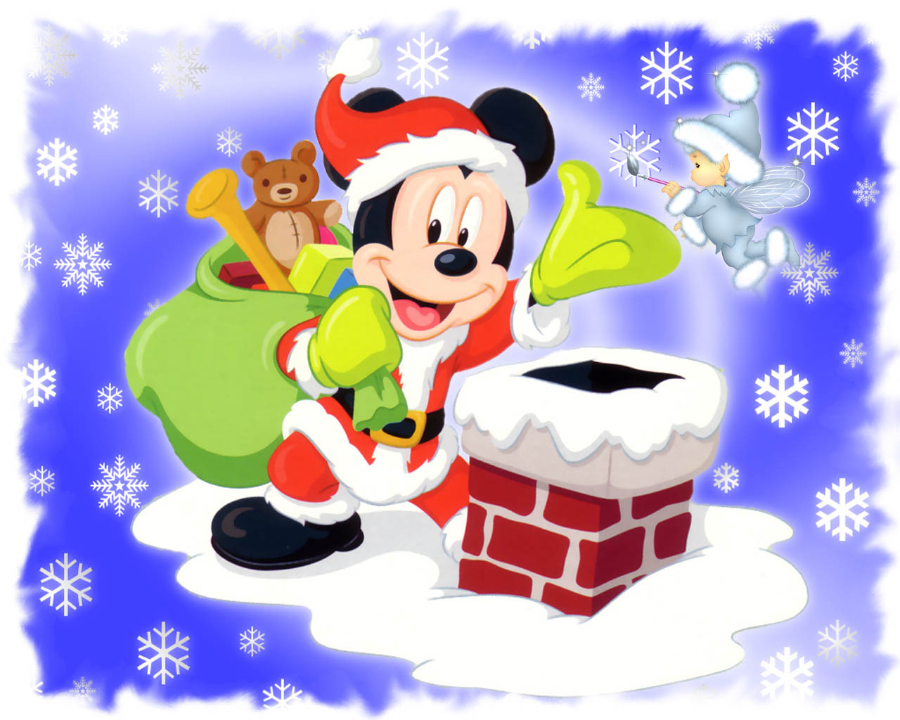 Mickey Mouse Santa Wallpapers Mickey Mouse Santa Stock