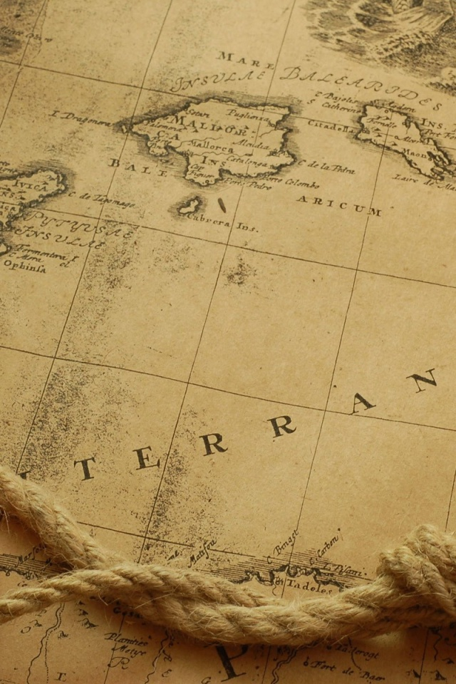 640x960 Old Map Iphone 4 wallpaper