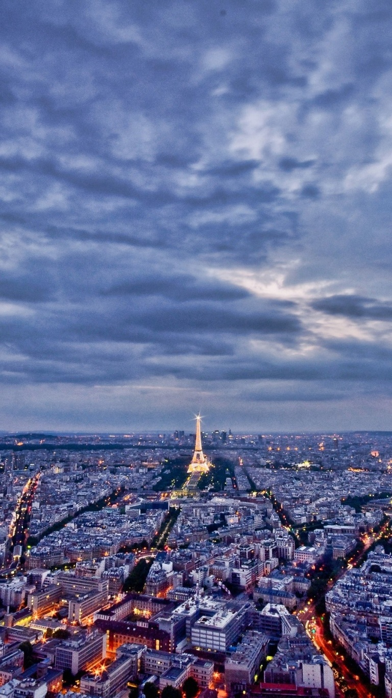 768x1366 Paris Cityscape Surface Rt Wallpaper