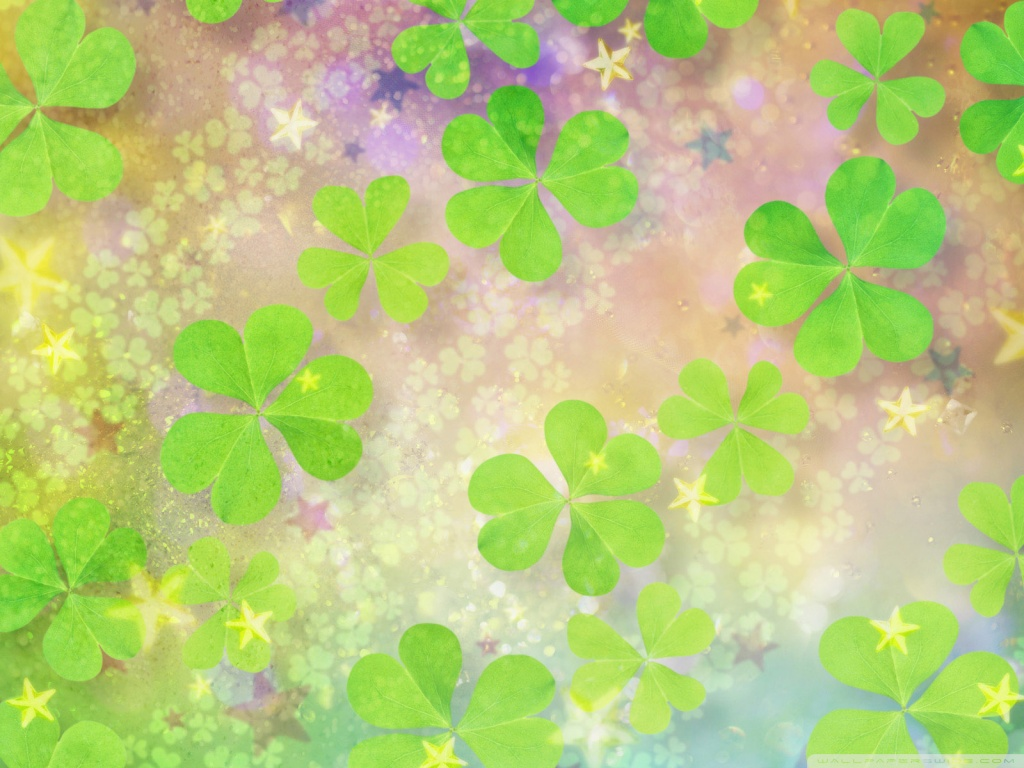 4 Clover Luck Good Leaf