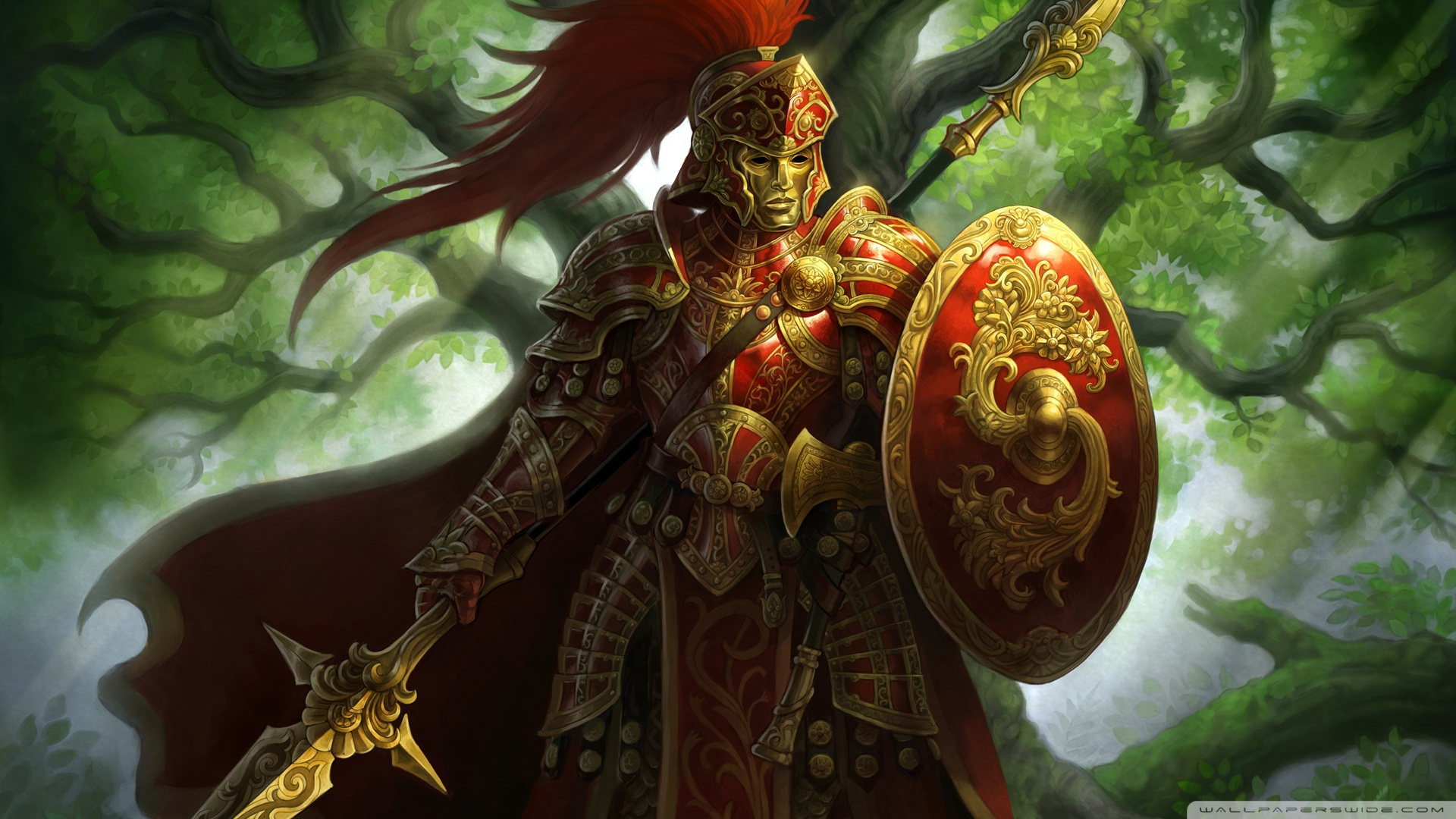 fantasy warrior hd desktop wallpaper : high definition
