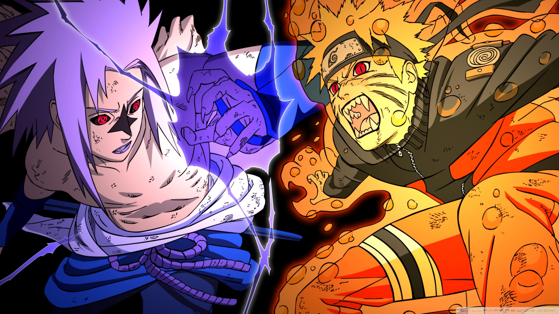 naruto vs sasuke - fighting ❤ uhd desktop wallpaper for ultra hd