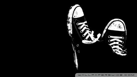 Sneakers Black And White HD desktop wallpaper : High ...