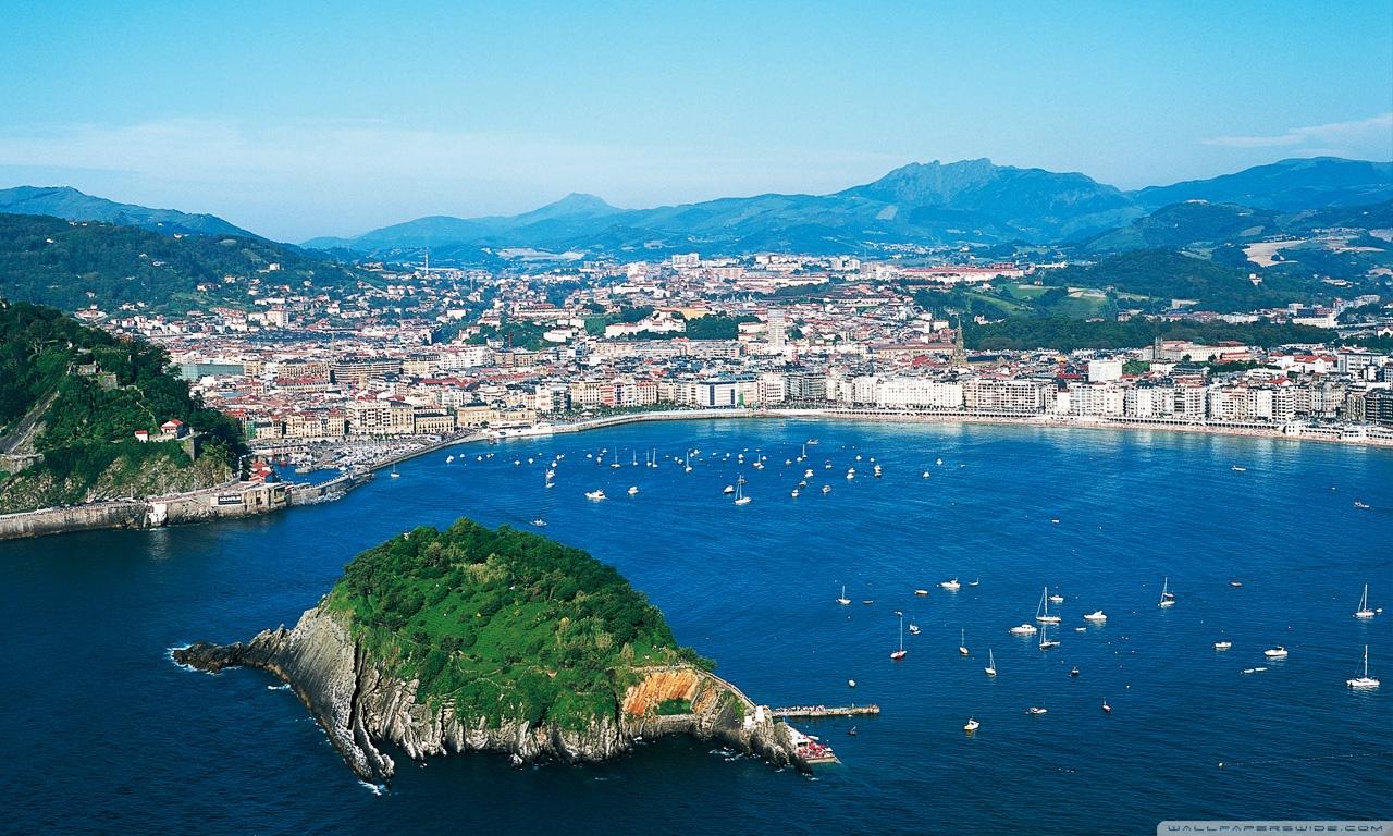View of San Sebastián, Spain HD desktop wallpaper ...