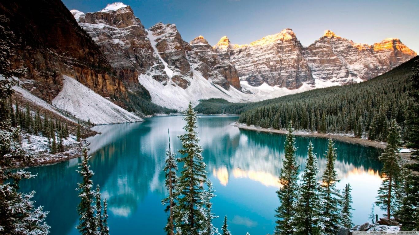 Winter, Moraine Lake, Alberta, Canada HD desktop wallpaper ...