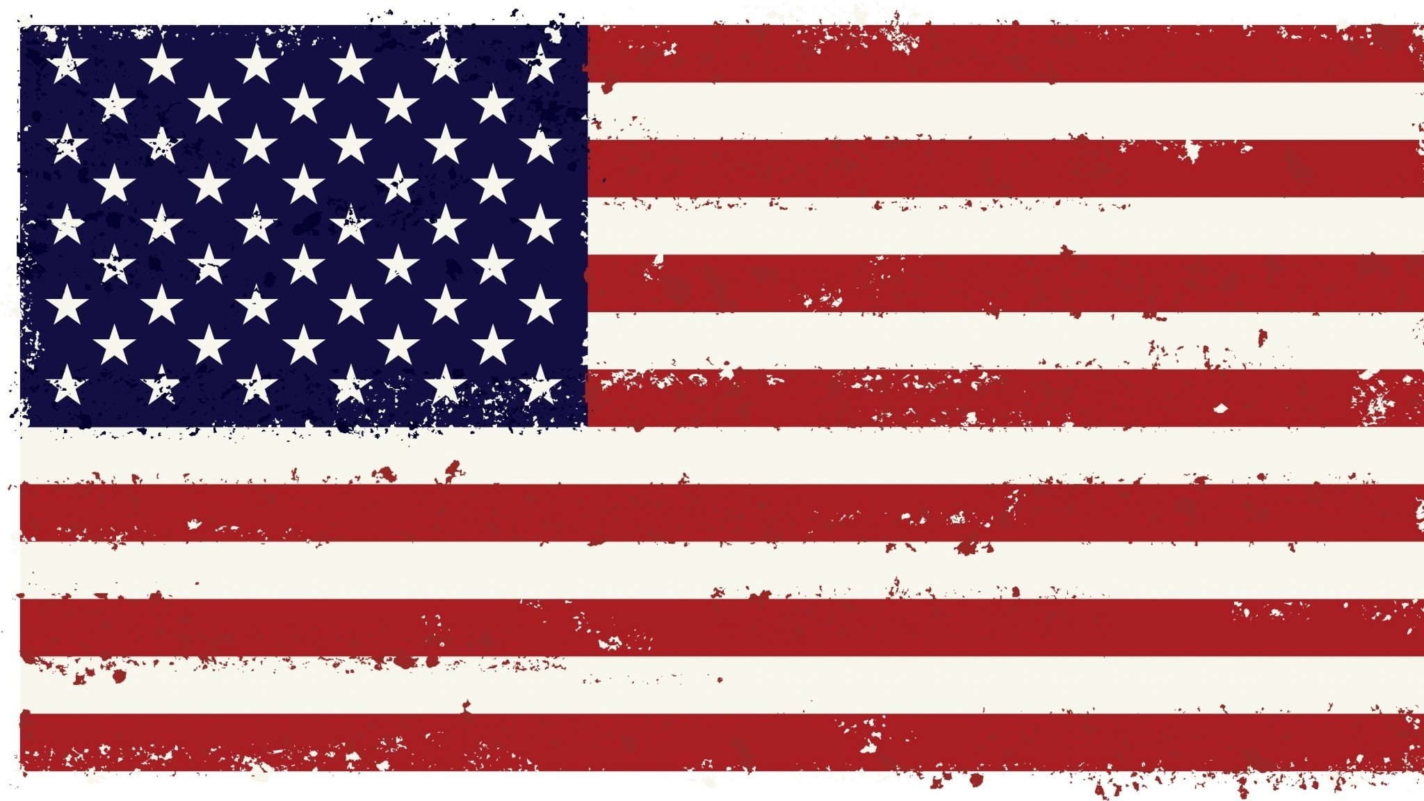 Faded American Flag Background