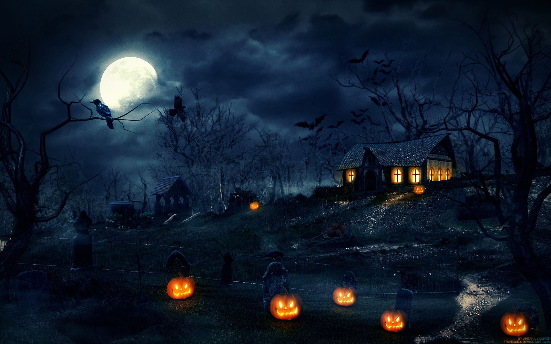 61 Halloween Backgrounds Download Free HD Wallpapers