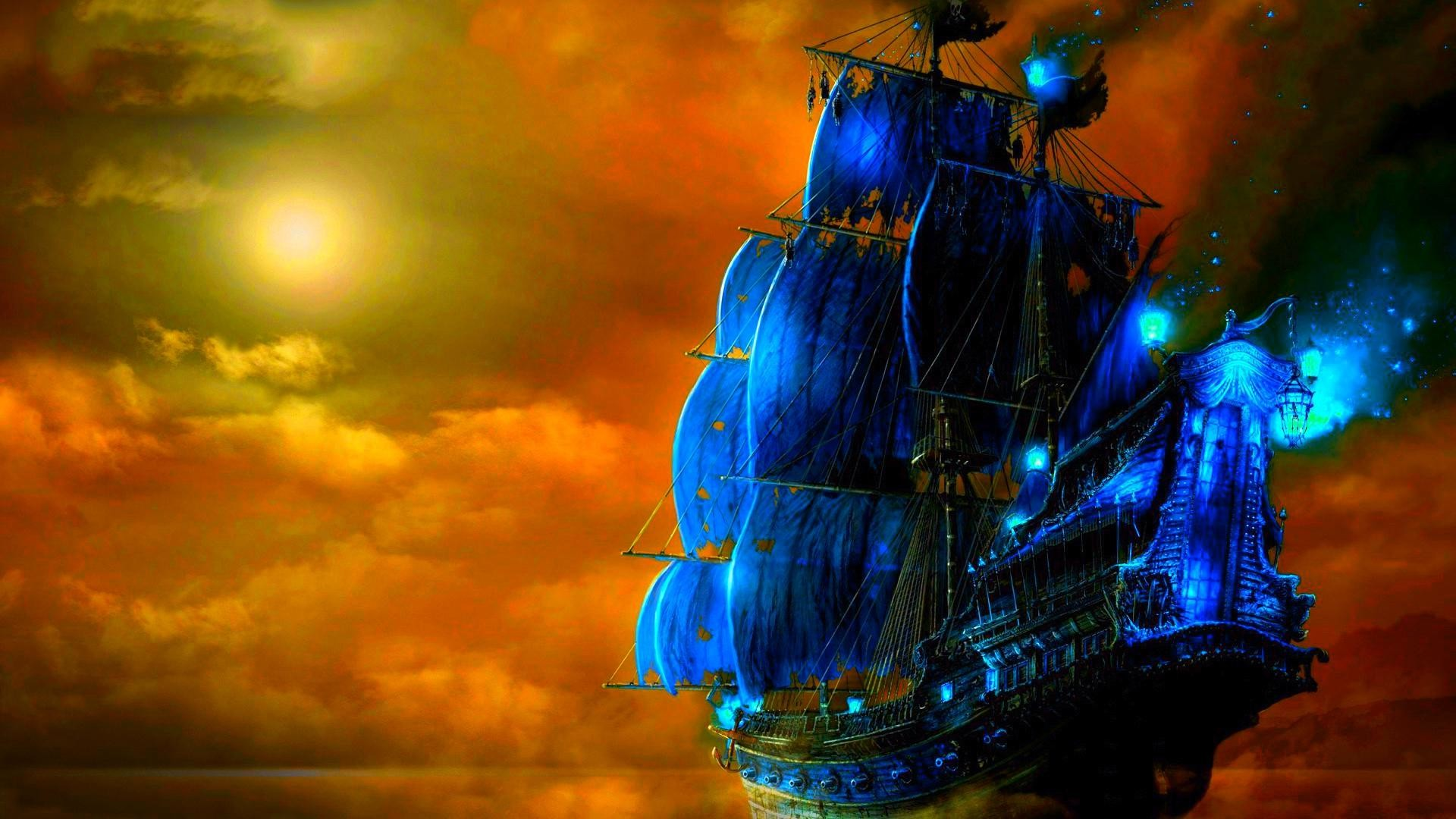pirate ship backgrounds ·①