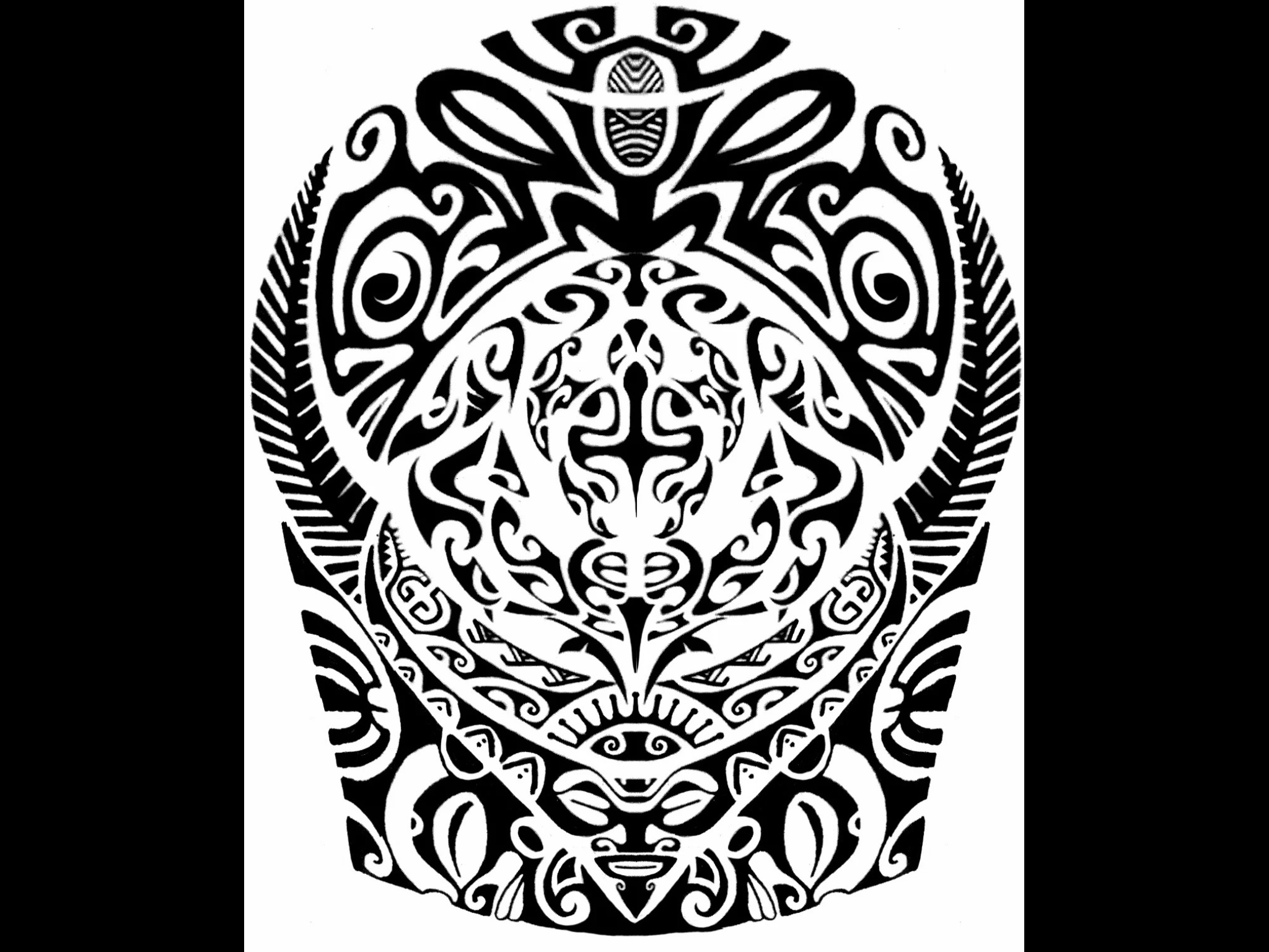 Samoan Tribal Wallpaper