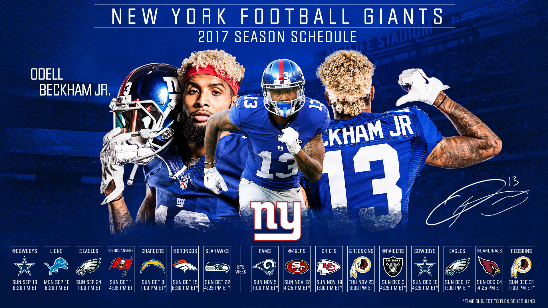 New York Giants Beckham Jr Wallpaper