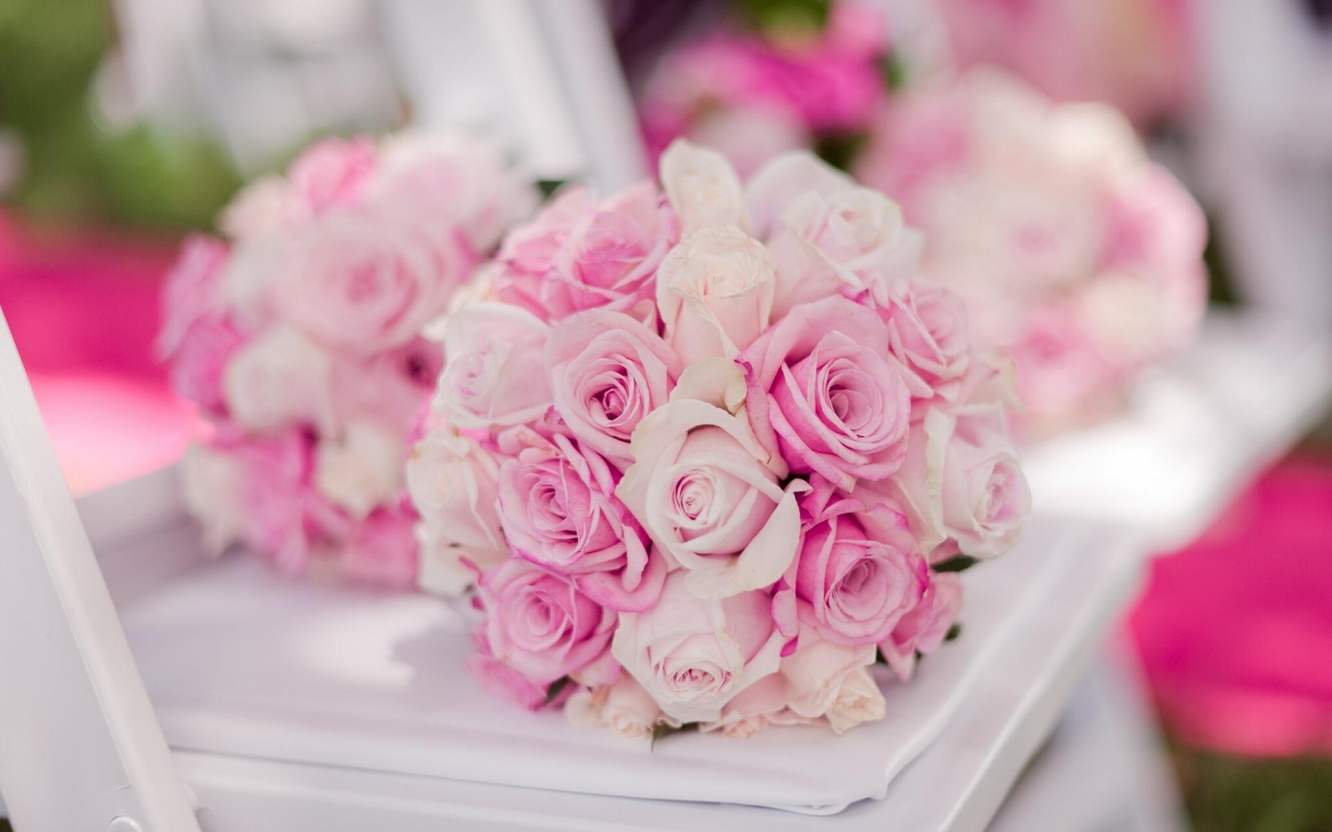Wedding Bouquet Buds Roses Bokeh Wallpaper