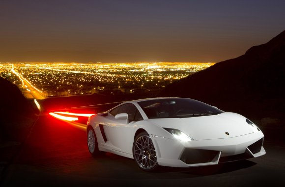 Amazing White Lamborghini Gallardo LP560 4 Photo Picture