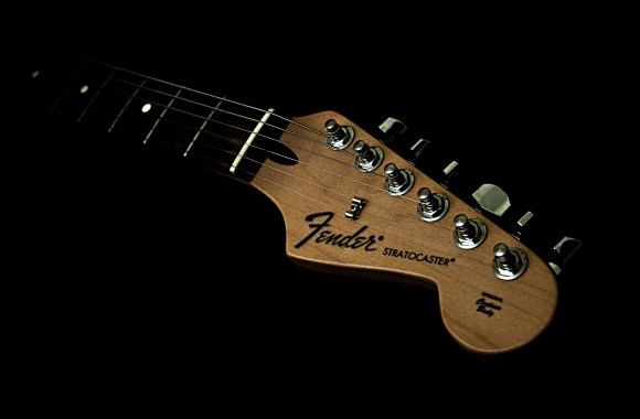 Fender Stratocaster Background Winter Wallpaper
