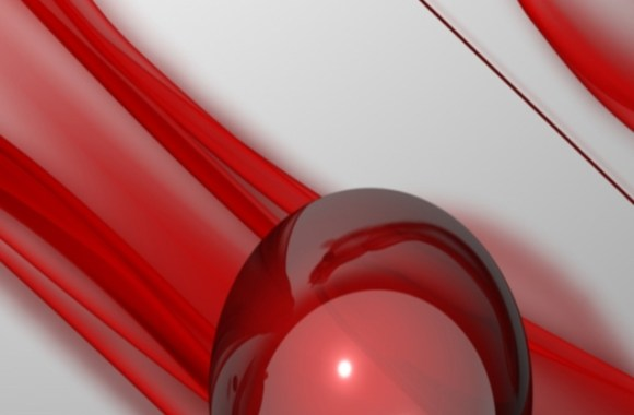 Red 3D Ball Iphone 4 Pictures Mobile Phone HD Wallpapers