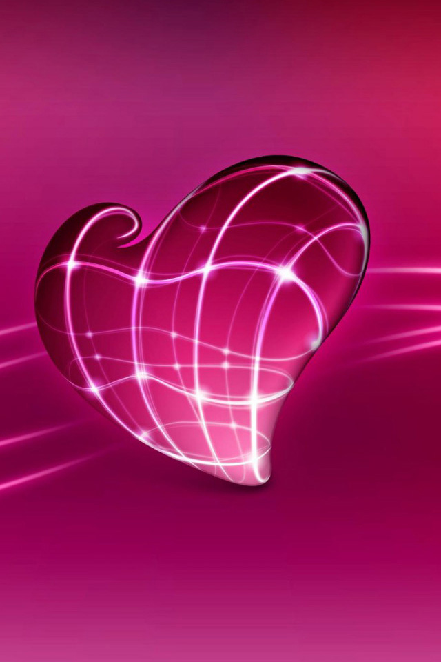 Abstract Love Purple iPhone Retina Wallpaper Picture Image