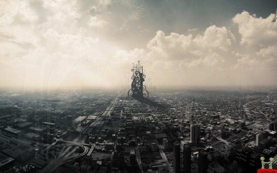 3D Amazing City View Image Wallpaper Photo Picture