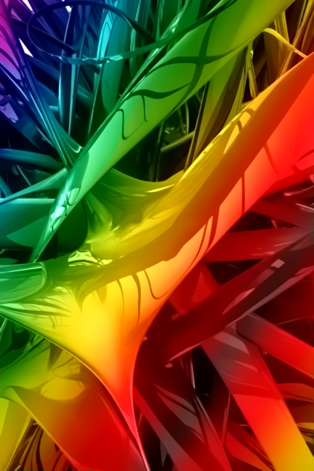 Amazing 3D Colorful iPhone 4 Wallpaper For Your iPhone