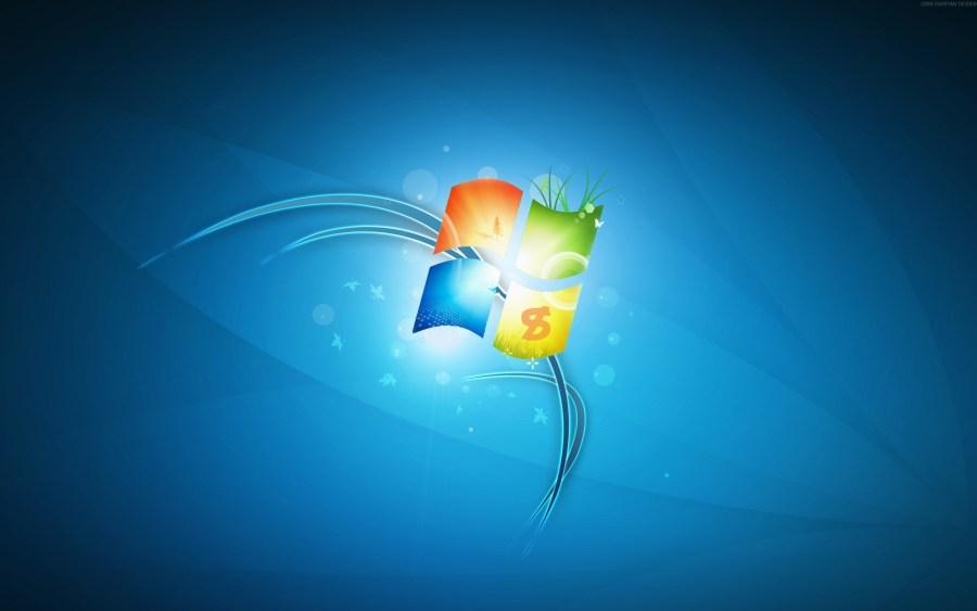 Windows 7 3D Logo Simple Design High Quality Wallpaper