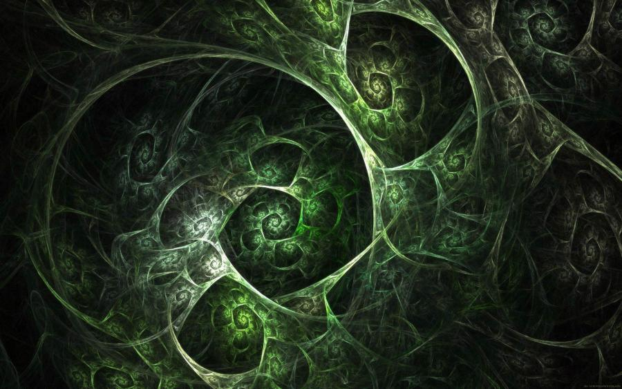 Amazing Black And Green Abstract HD Wallpaper Picture Image
