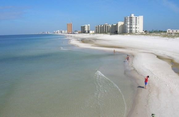 Northwest From St Andrews State Park Panama City Beach Florida