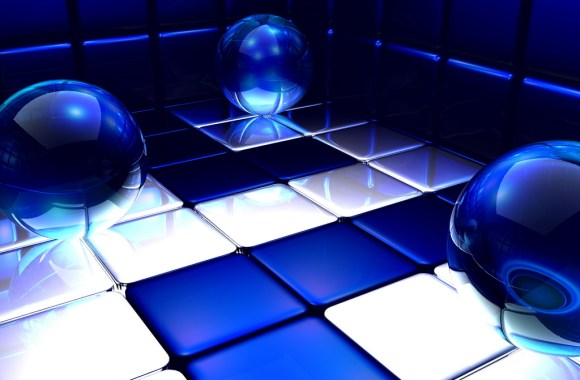 Abstract Blue Ball Expanse HD Wallpaper For Your PC Desktop