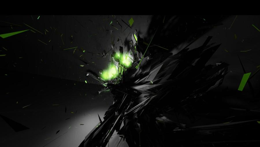 Dark Green Abstract Design HD Wallpaper For Your PC Computer