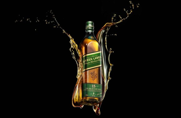 Free Download Green Label Whisky Alcohol  Drink HD Wallpaper