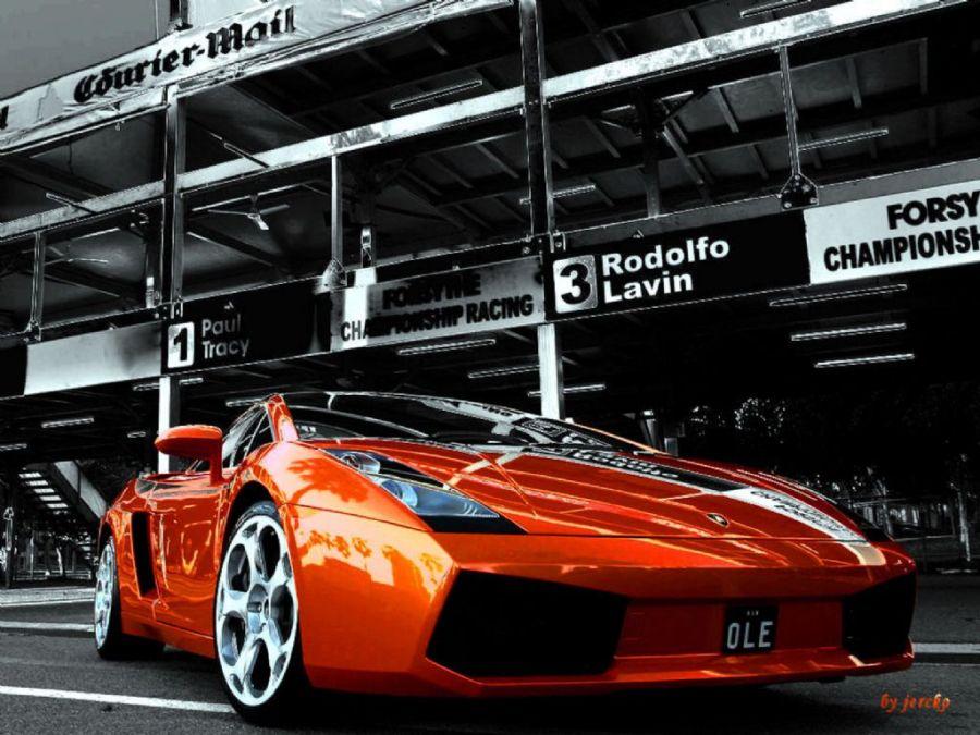 Beuatiful Orange Lamborghini Reventon Photo HD Wallpaper