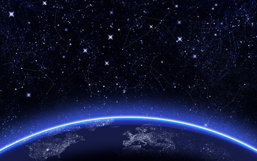 Fantastic Earth And Stars In The Sky Night Photography HD Wallpaper
