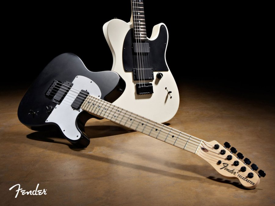 Black And White Fender Telecaster Guitar Music Pictur Photo Wallpaper