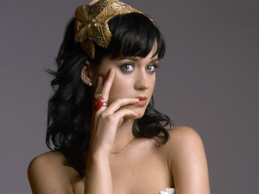 Hollywood Star Katy Perry Grey Background HD Wallpaper