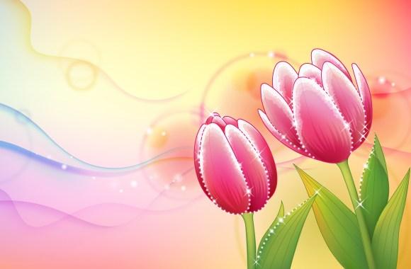Beautiful Abstract Flowers Design Wallpapers HD Widescreen Desktop