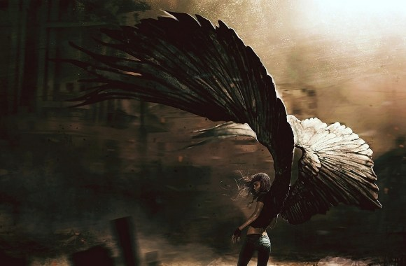 Anime Fallen Angel Image Picture HD Wallpaper Free Download