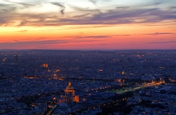 Beautiful Sunset Paris Wallpaper HD Widescreen Picture For PC Desktop