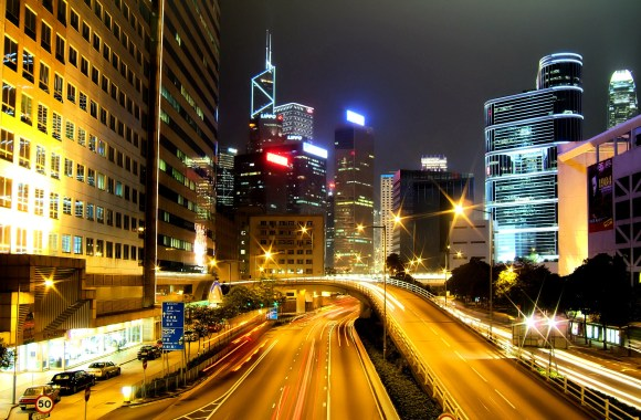 Hong Kong City Nights HD Wallpapers Pictures Photos Collection
