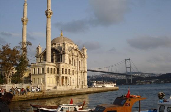 Istanbul Building And The Bridge HD Wallpaper Widescreen Desktop Photo