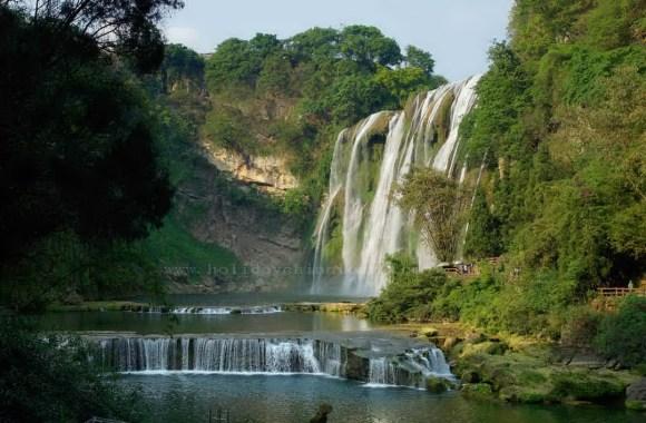 Huangguoshu Waterfall Nature Tour And Travel Photo HD Wallpaper
