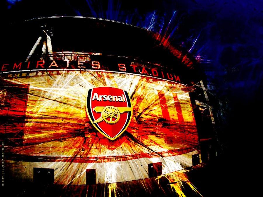 Awesome Arsenal Logo At Emirates Stadium HD Wallpaper Image