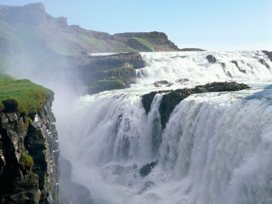 Beautiful Place To Visit Gulfoss Falls Iceland Tour And Travel Picture