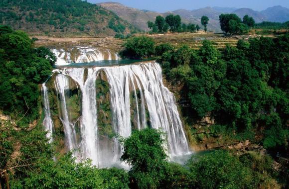 Huangguoshu Waterfall Nature China Photo Free Download