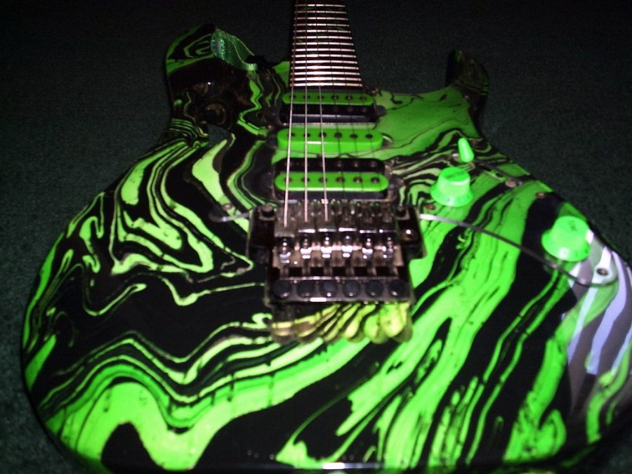 Beautful Green Art Ibanez RG Series Electric Guitar Photo Picture Sharing