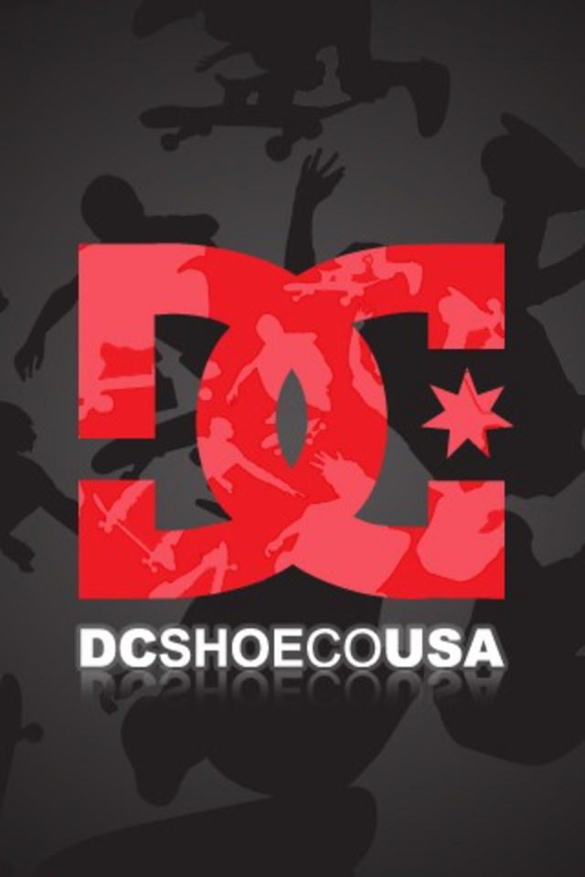 DC Shoes Red And White Logo Grey Wallpaper For Your iPhone 4 And 4S
