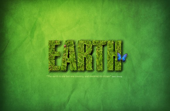 Save Earth Green HD Wallpaper Picture Background Desktop