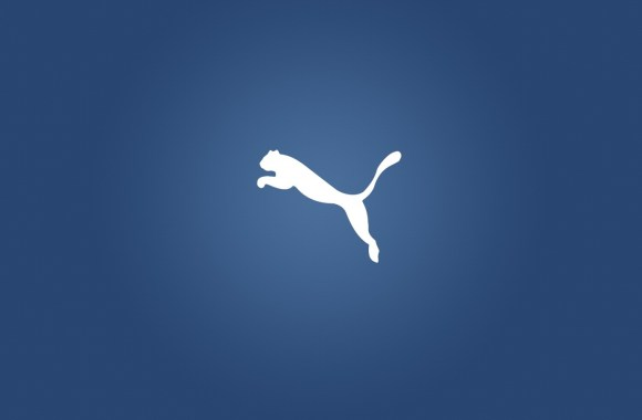 Awesome Puma Logo Blue Background HD Wallpaper Image Picture