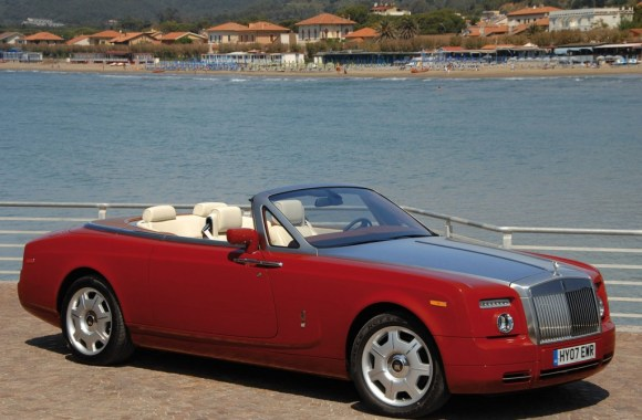 Red Rolls Royce Phantom Drophead Coupe Automotiv HD Wallpaper