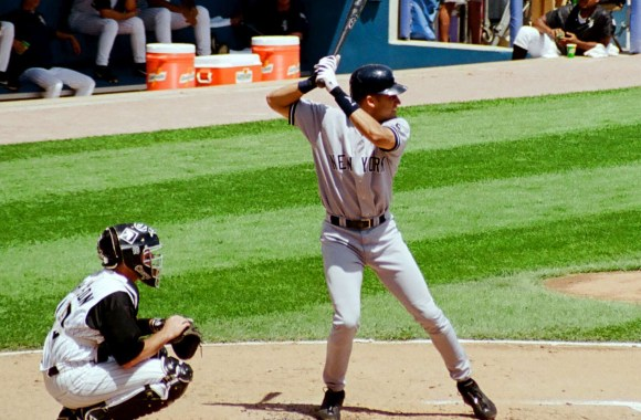 Derek Jeter at Bat HD Wallpaper