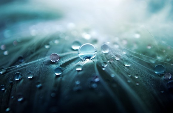 Abstract Rain Drops HD Wallpaper