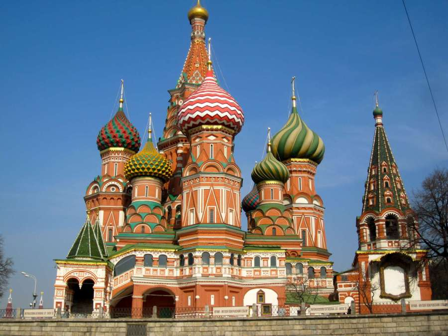 St Basils Cathedral, Moscow, Russia-1920